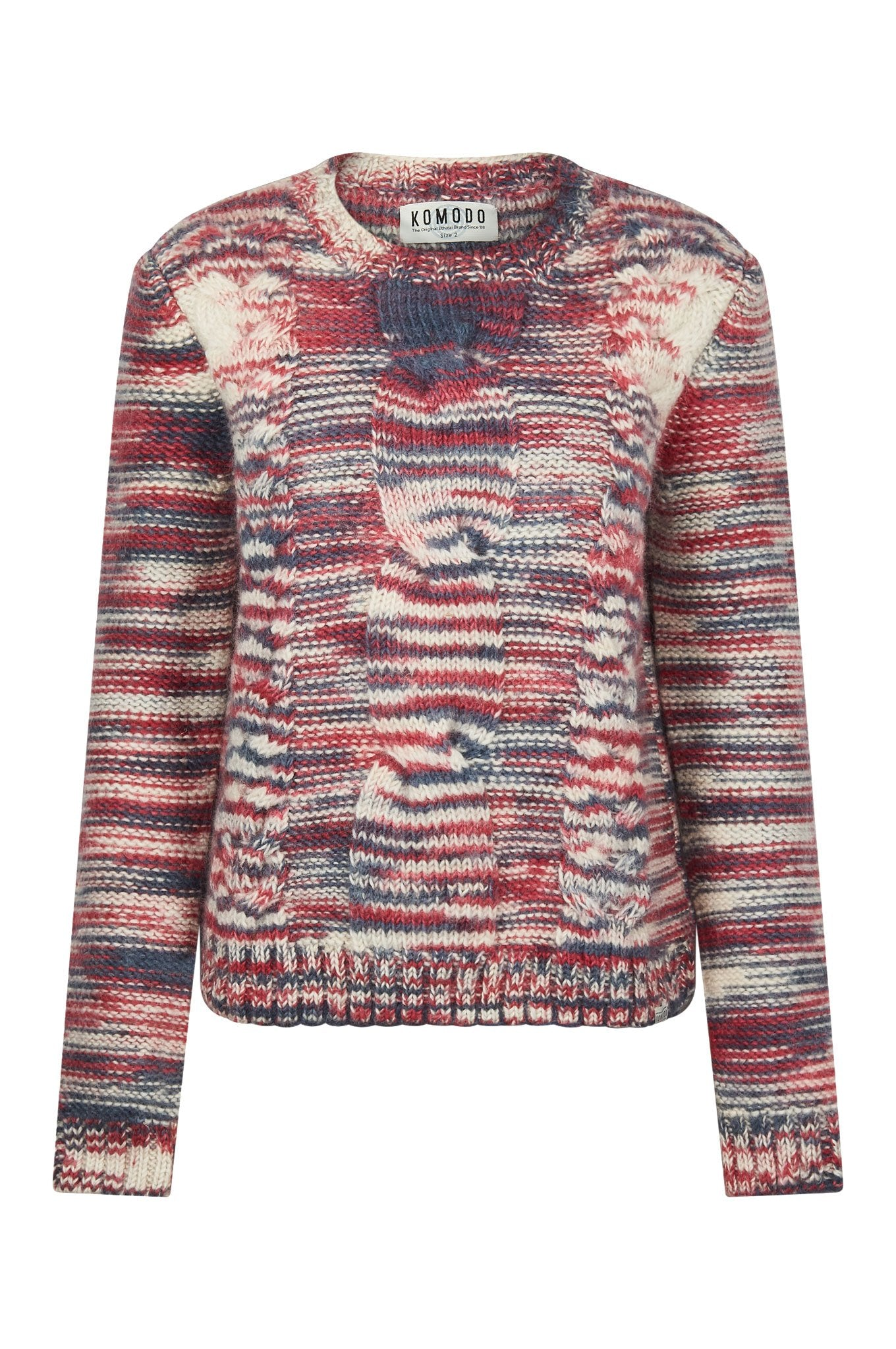 RUNA Lambswool Jumper Burnt Red