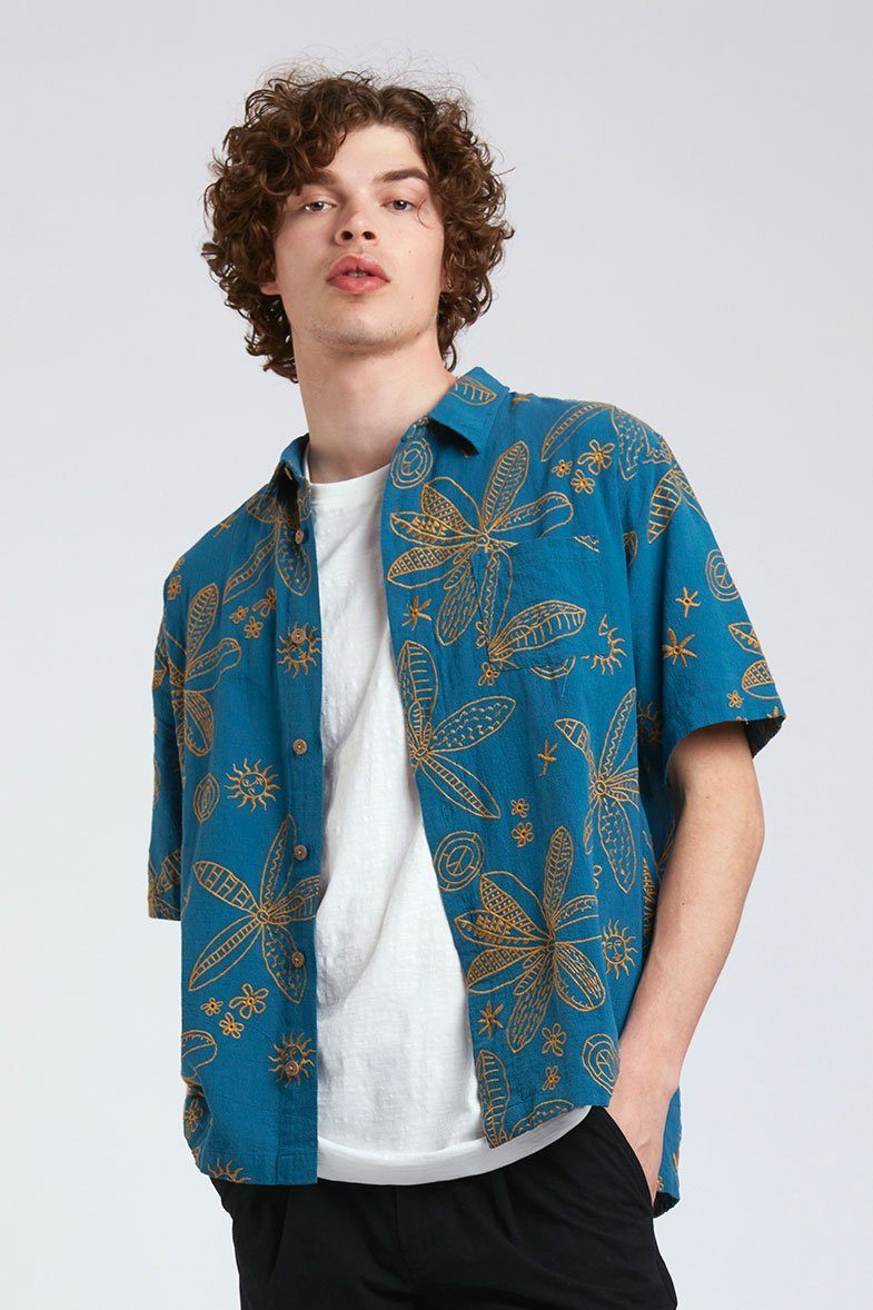 Shirt - DINGWALLS - Organic Cotton Shirt Blue