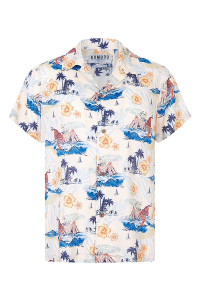 SPINDRIFT Print Rayon Shirt Bali Surf - Komodo Fashion