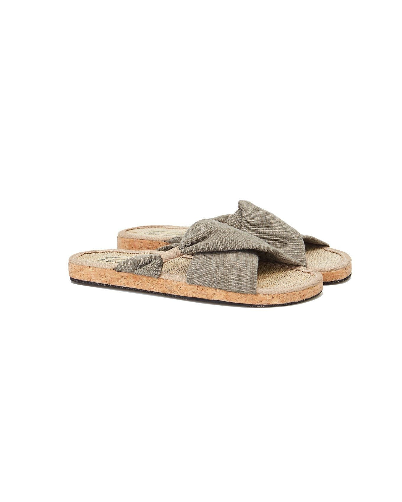 Shoes - HELENA SLIDER Khaki