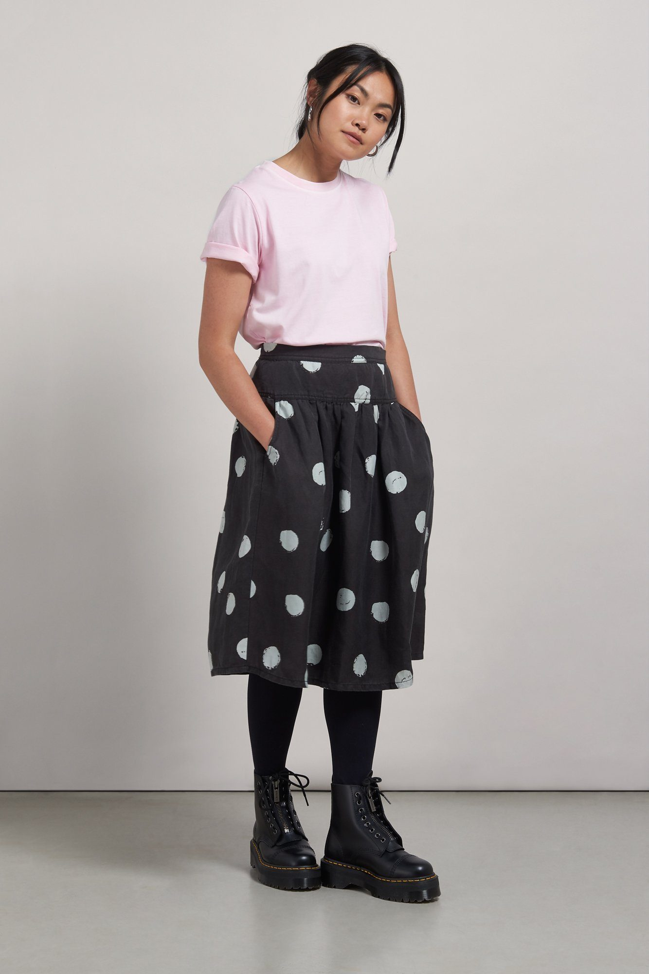 Skirt - KUSAMA Tencel Linen Skirt