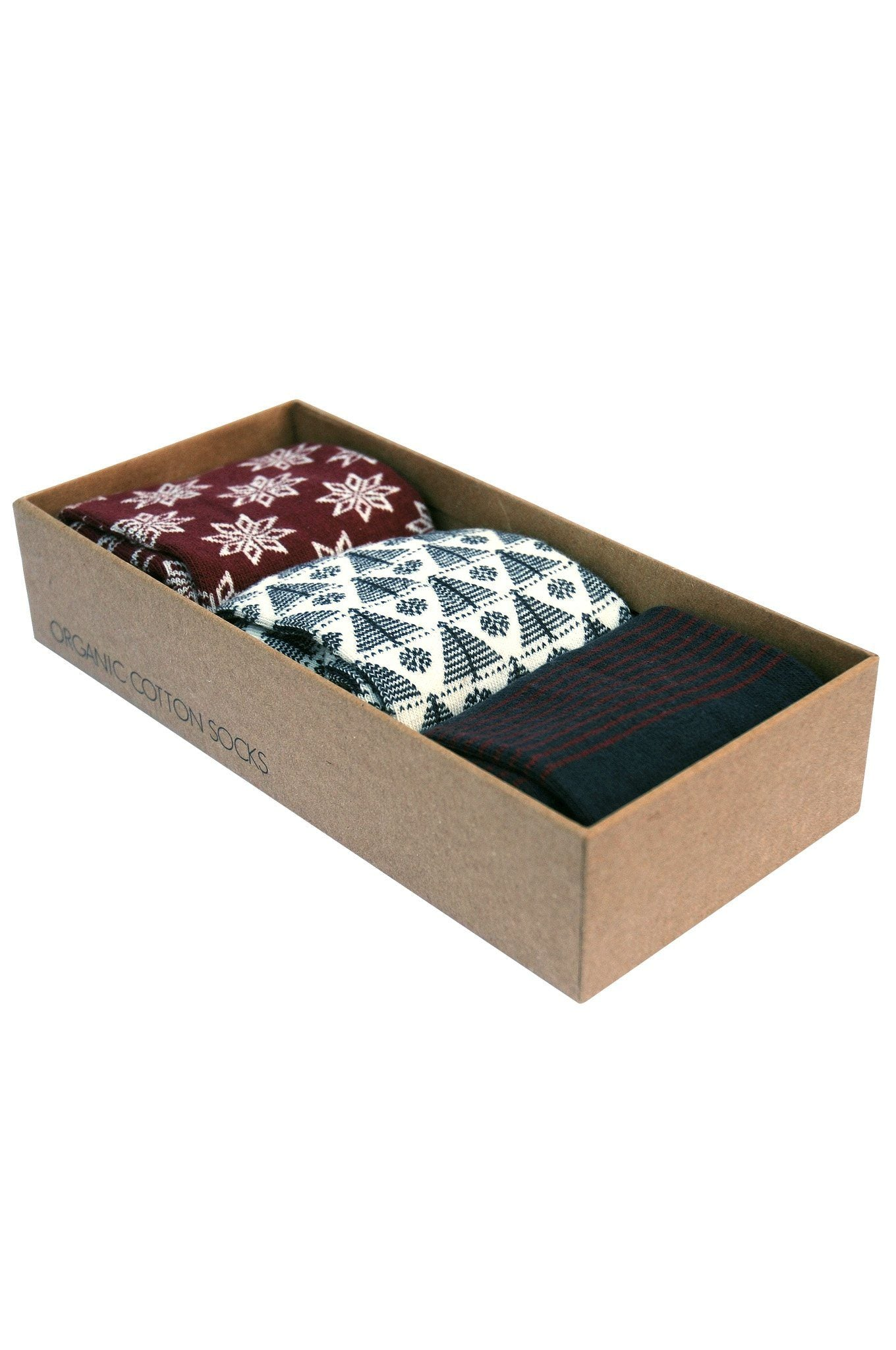 CHRISTMAS Box Assorted Organic Cotton Socks Set - Komodo Fashion