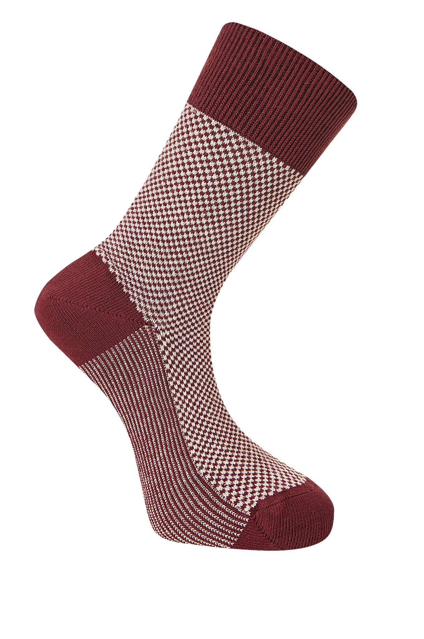 DOT Burnt Red Organic Cotton Socks - Komodo Fashion