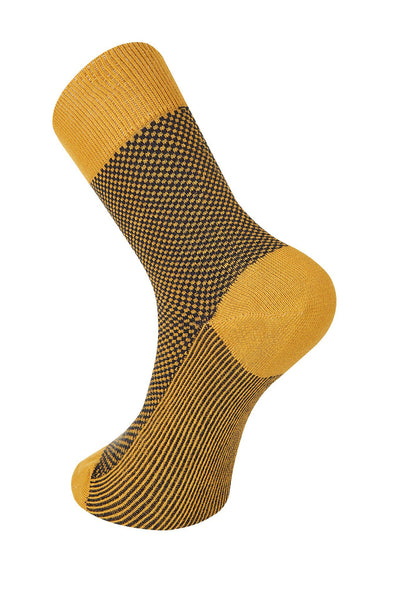 DOT Marigold & Navy Organic Cotton Socks - Komodo Fashion