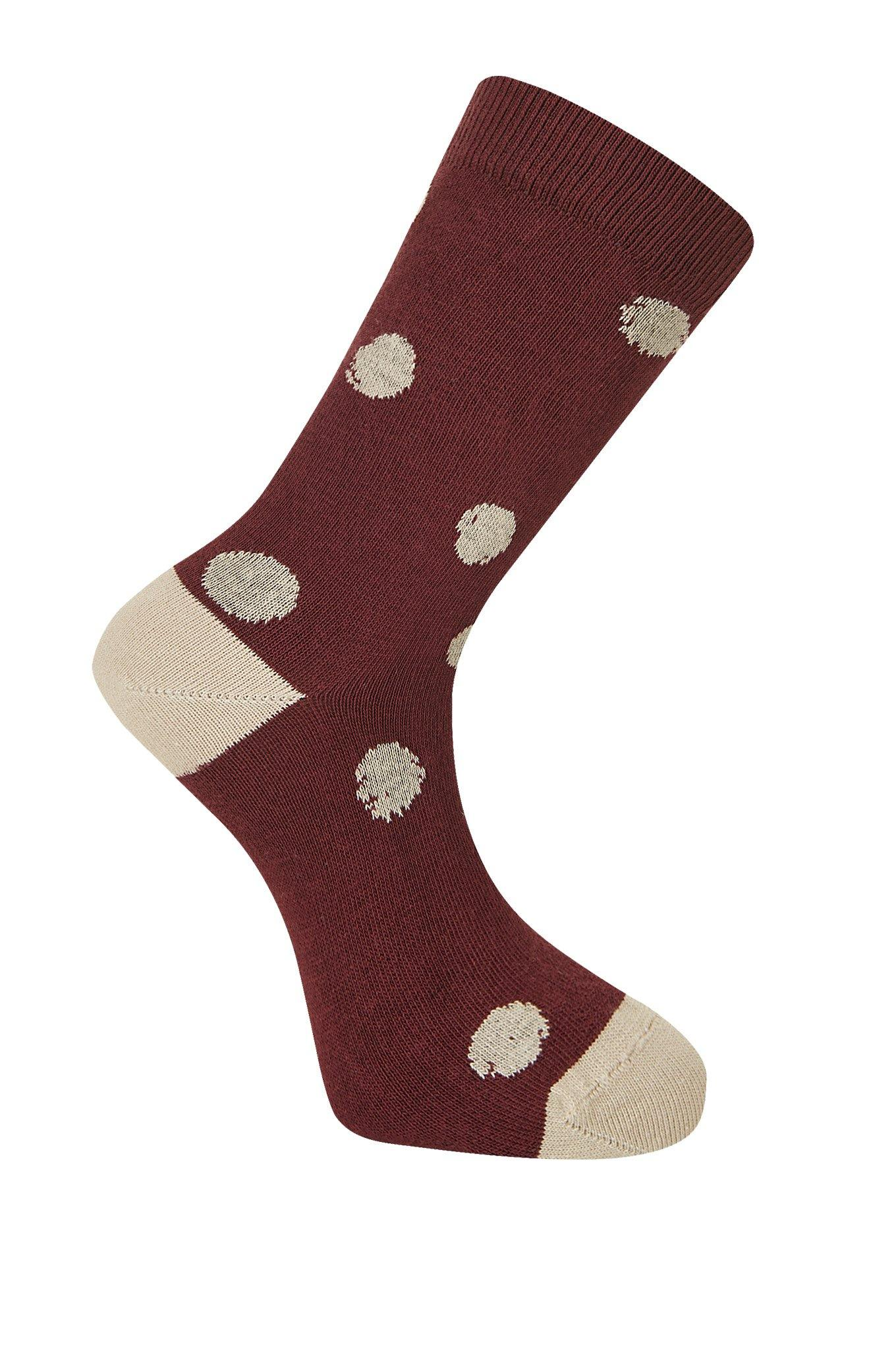 KUSAMA DOT Burnt Red Organic Cotton Socks - Komodo Fashion