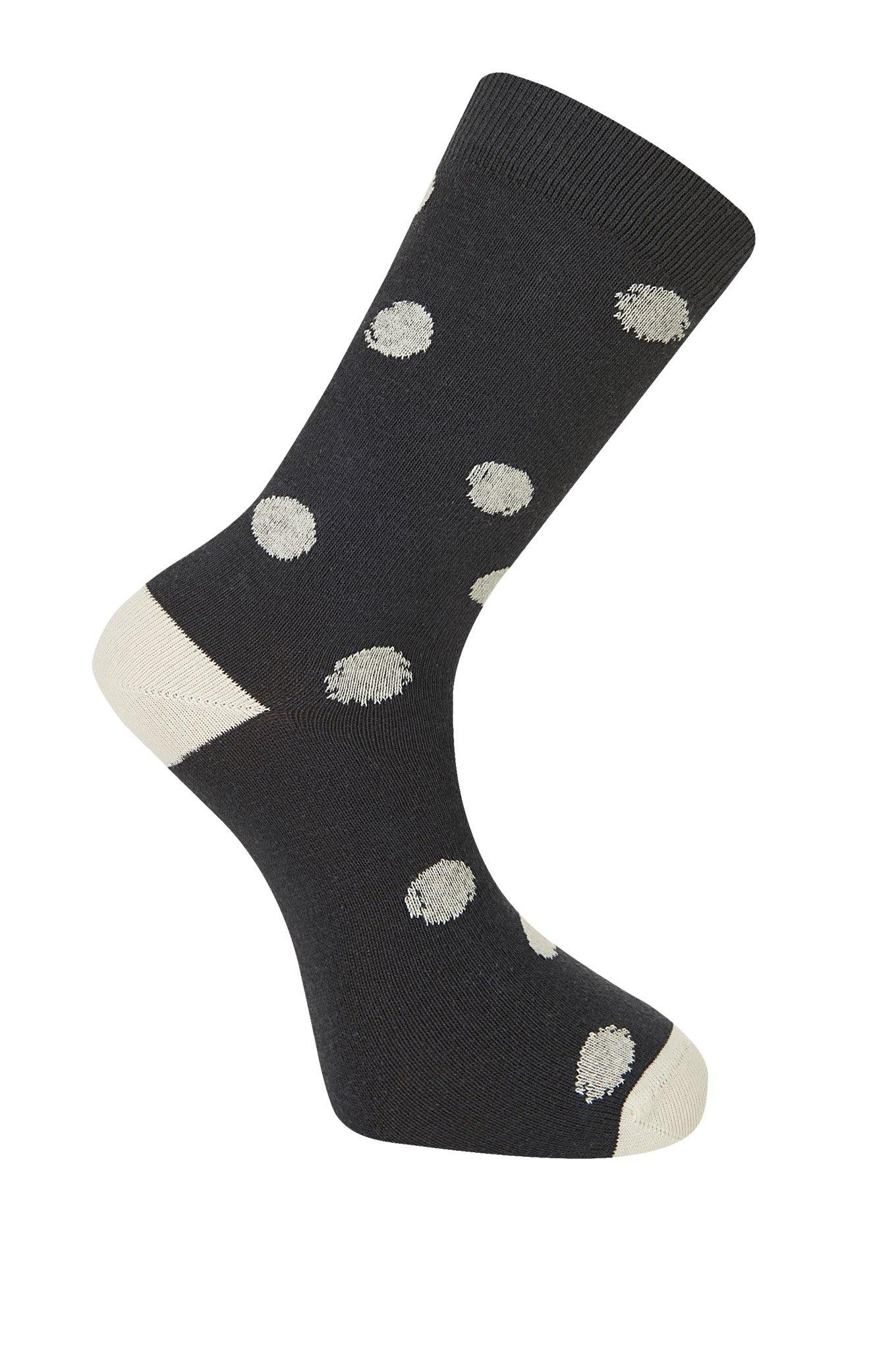 KUSAMA DOT Coal Organic Cotton Socks - Komodo Fashion