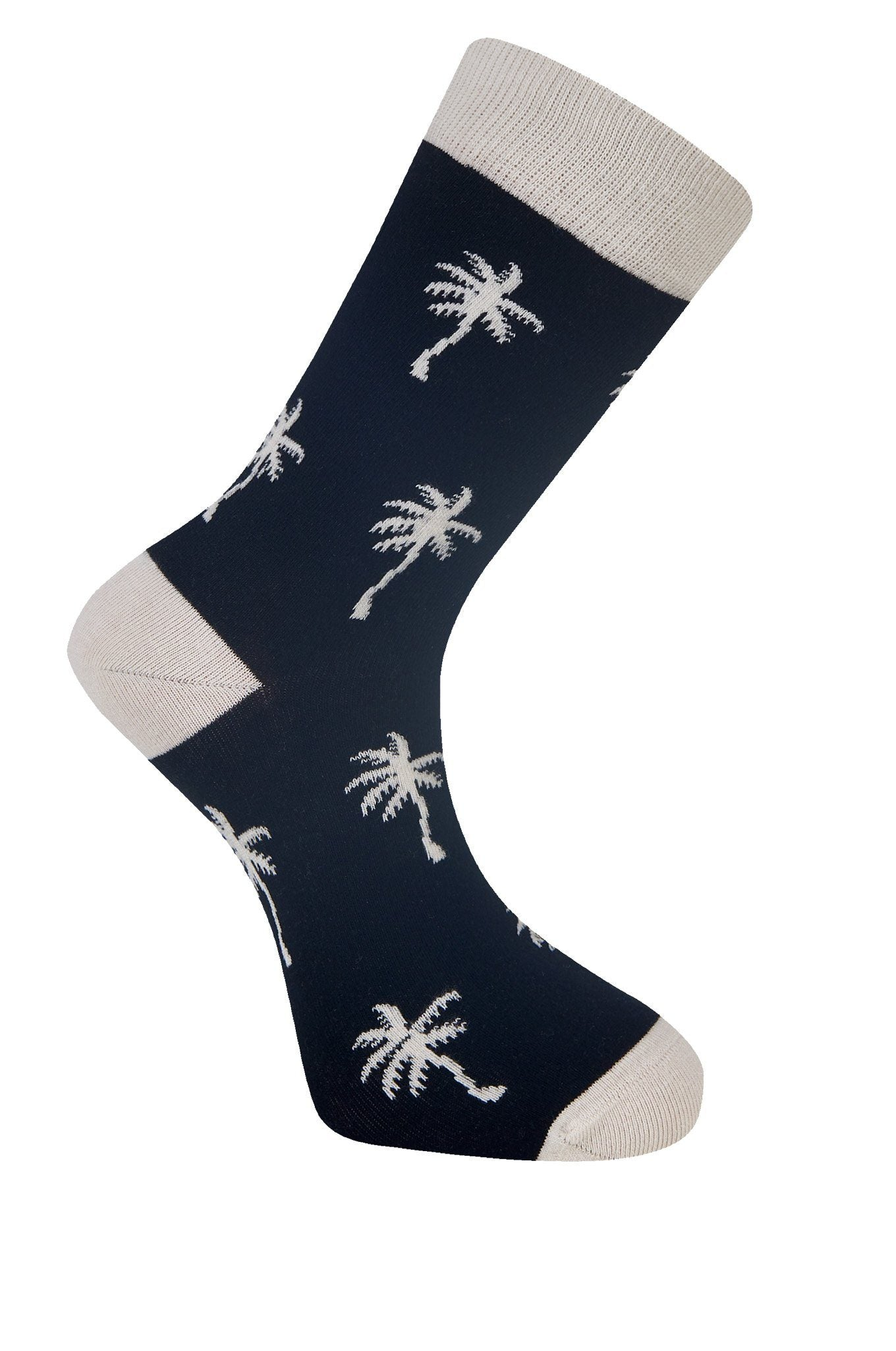 PALM TREE Black Organic Cotton Socks - Komodo Fashion