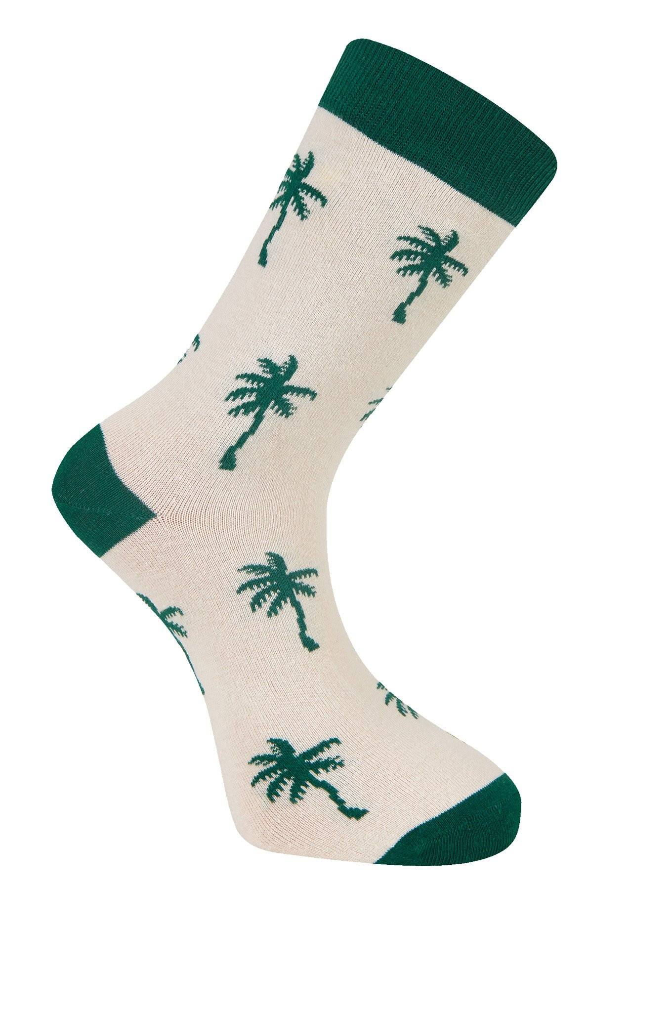 PALM TREE Emerald Organic Cotton Socks - Komodo Fashion