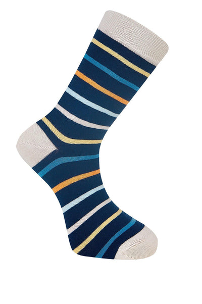 STRIPES Ink Organic Cotton Socks - Komodo Fashion
