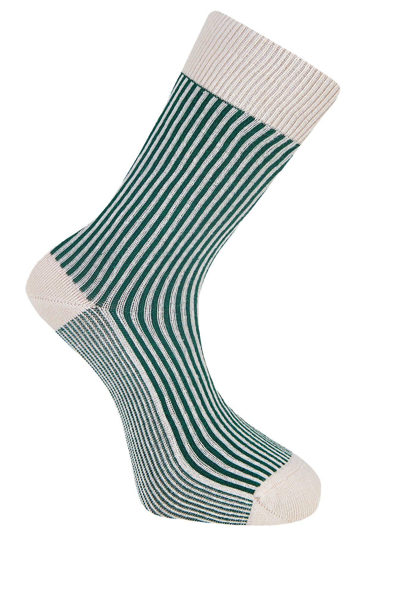 VERTICAL Emerald Organic Cotton Socks - Komodo Fashion