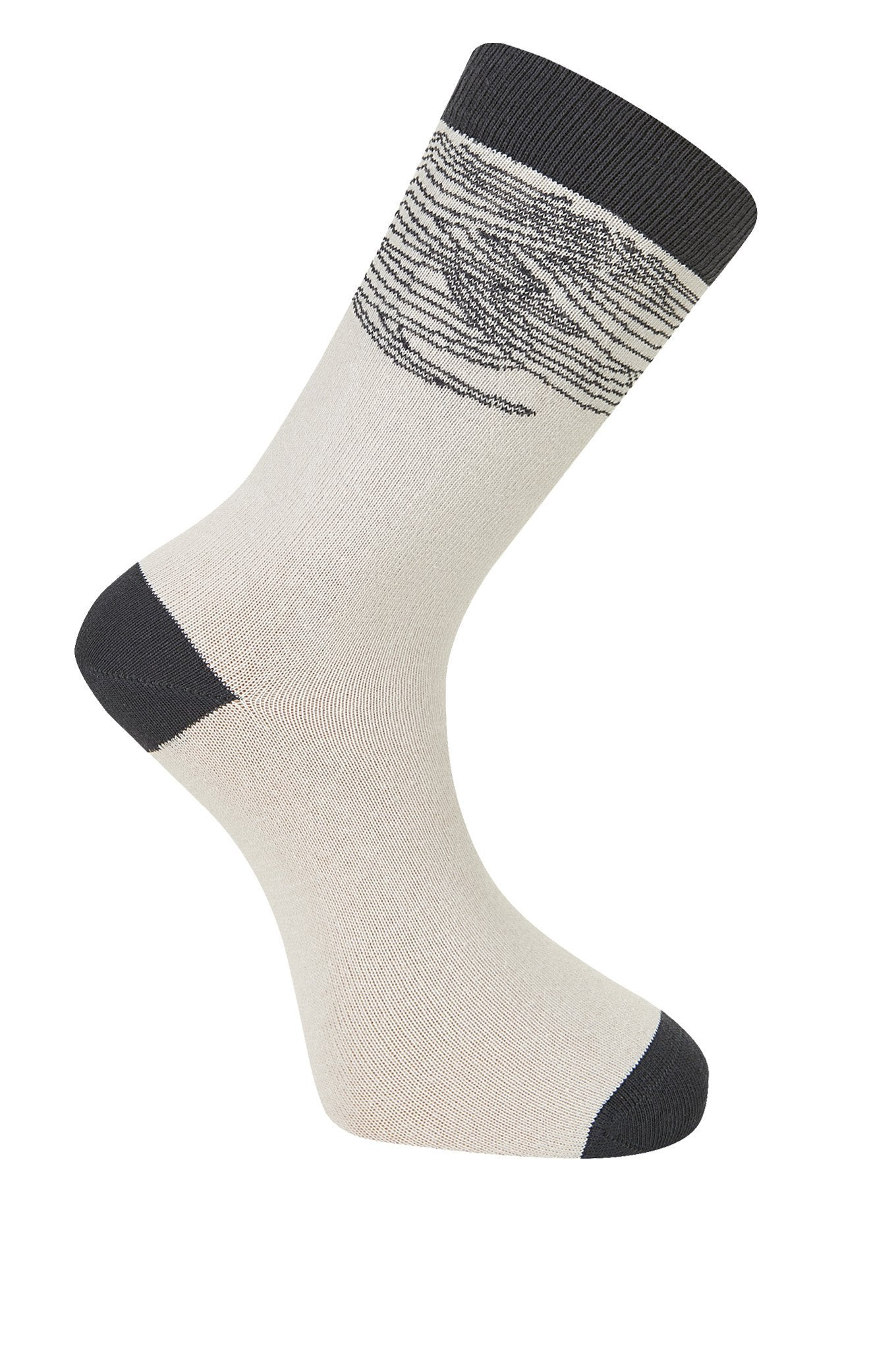 WAVE Ice Beige Organic Cotton Socks - Komodo Fashion