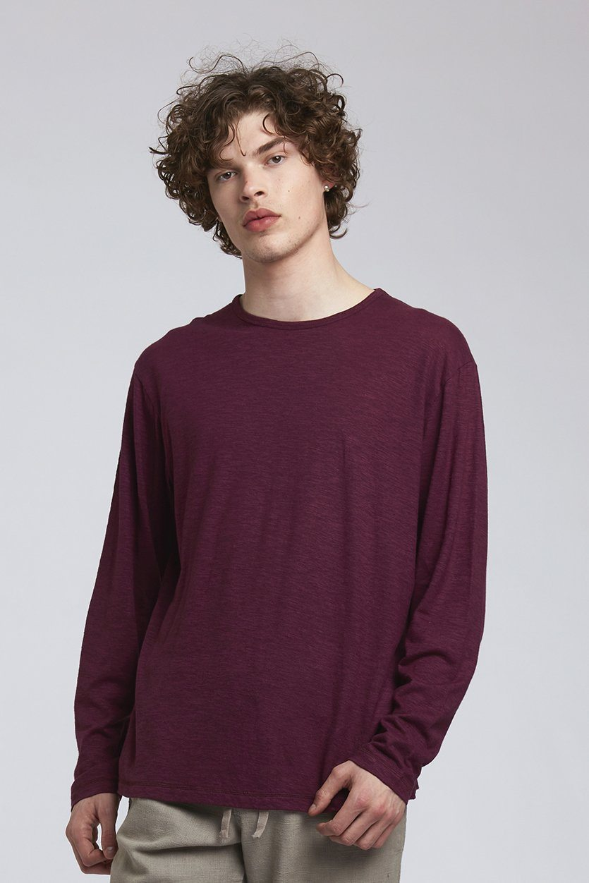 T-shirt - HAKON Hemp Tee Wine