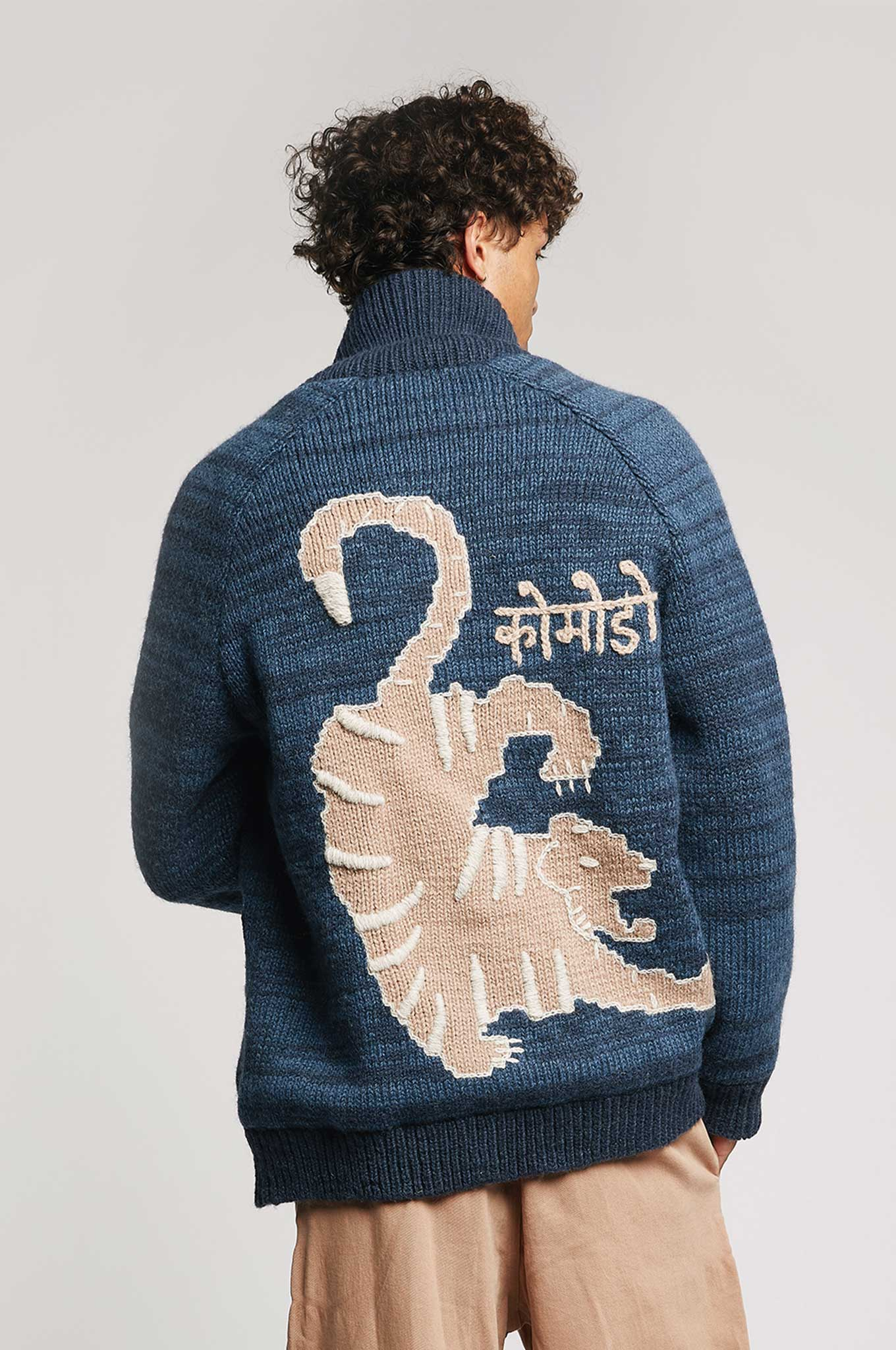TIGER Lambswool Jacket Indigo
