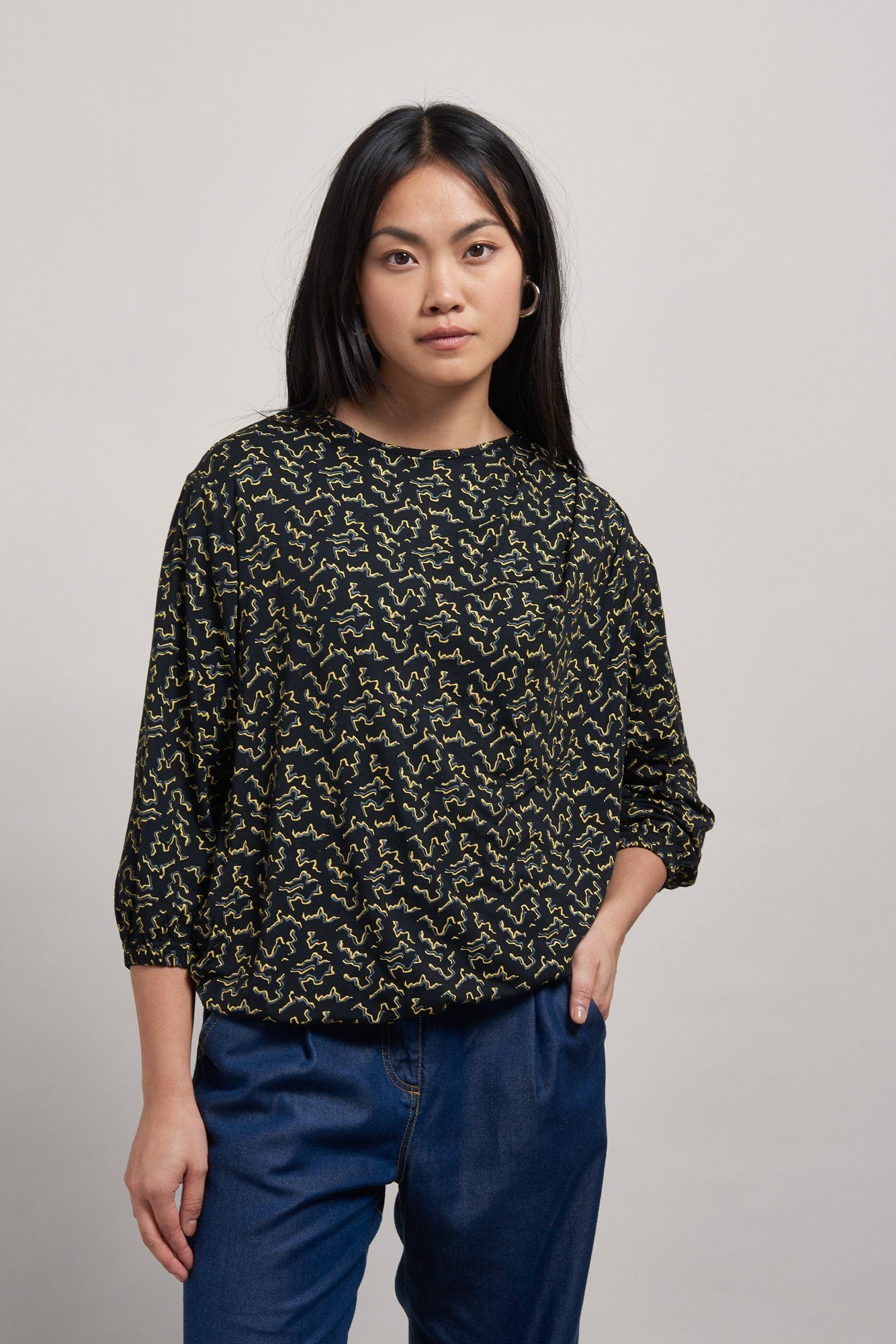 DRIFT Bamboo Drape Print Top - Komodo Fashion