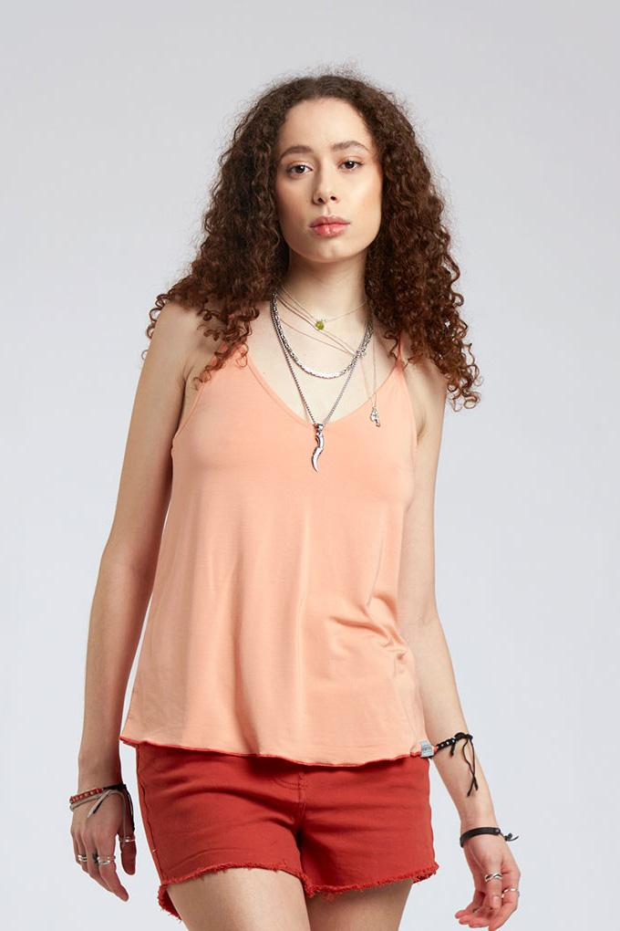 Top - MANDY Modal Top Peach