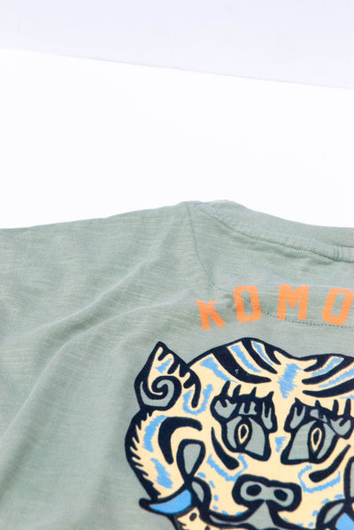 MANTRA TIGER Organic Cotton Tee Mineral Blue - Komodo Fashion