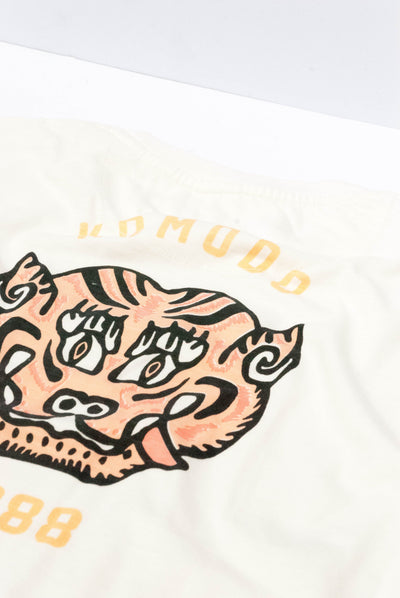 MANTRA TIGER Organic Cotton Tee Off-White - Komodo Fashion