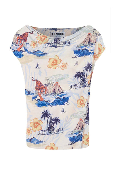SENS Rayon Top Bali Surf Print - Komodo Fashion