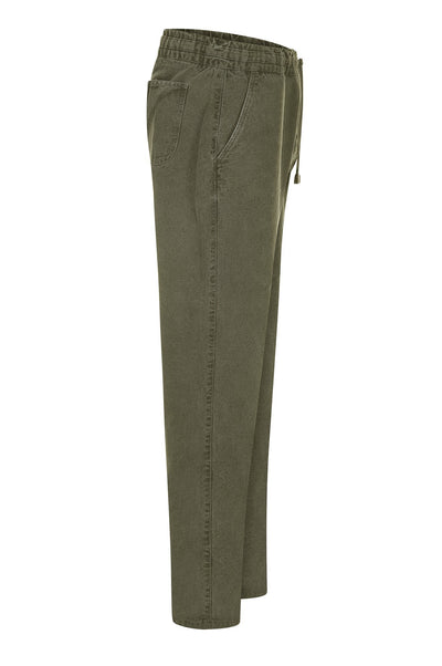 AGUST Organic Cotton Draw Cord Cargos Khaki - Komodo Fashion