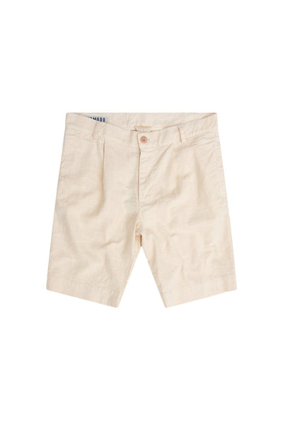BOBBY Organic Cotton & Linen Pleat Short in Warm Sand - Komodo Fashion