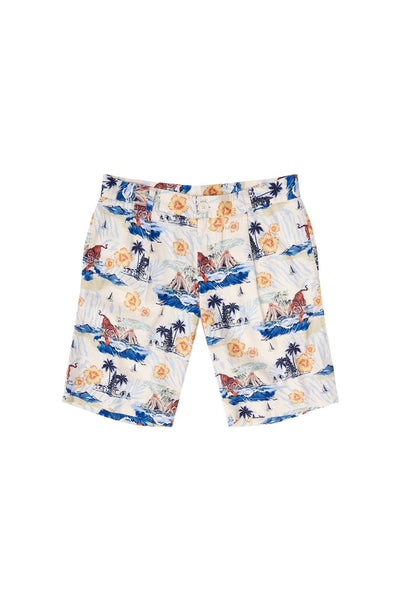 BOBBY Organic Linen Pleat Short Bali Surf Print - Komodo Fashion