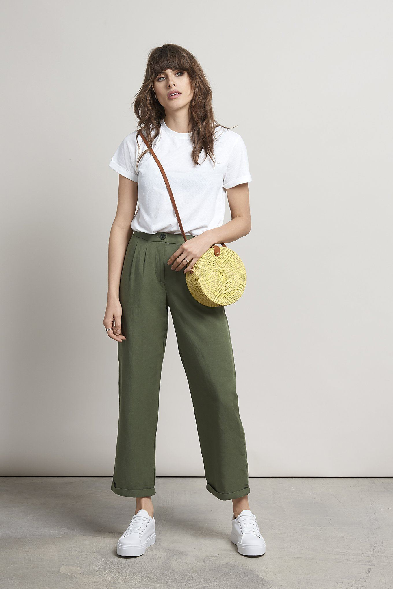 Green Eco-friendly Tencel & Organic Linen Trousers  | KOMODO