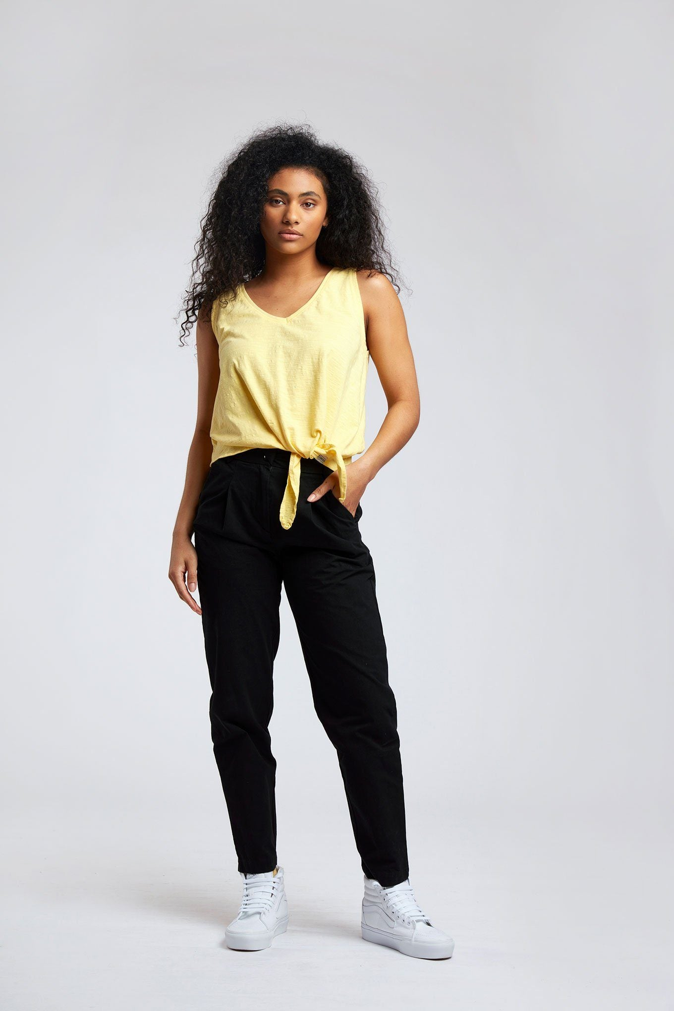 Trousers - LILA - Organic Cotton Trousers Black Coffee