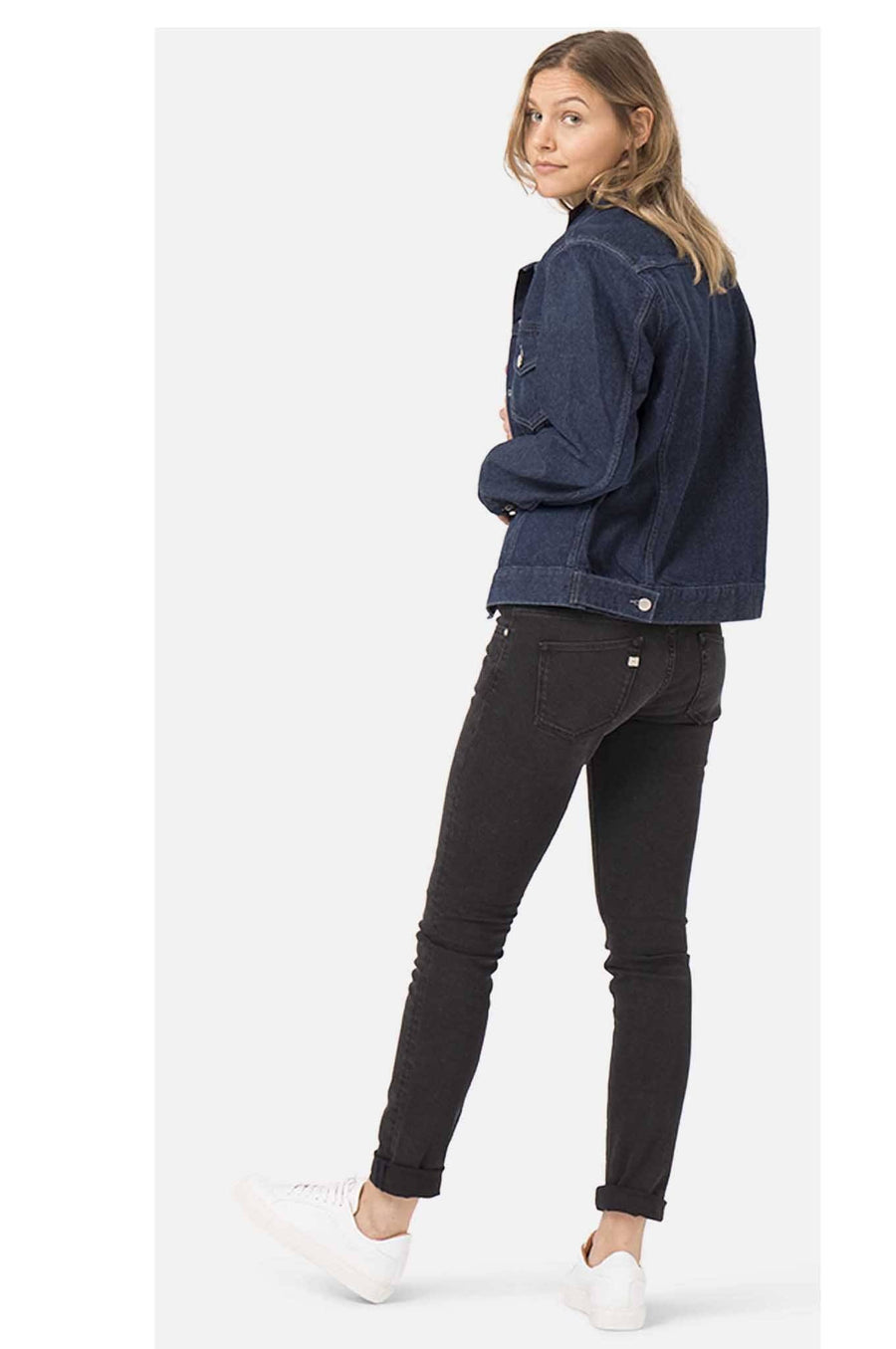 Trousers - LILLY Womens Skinny Black Jeans By MUD