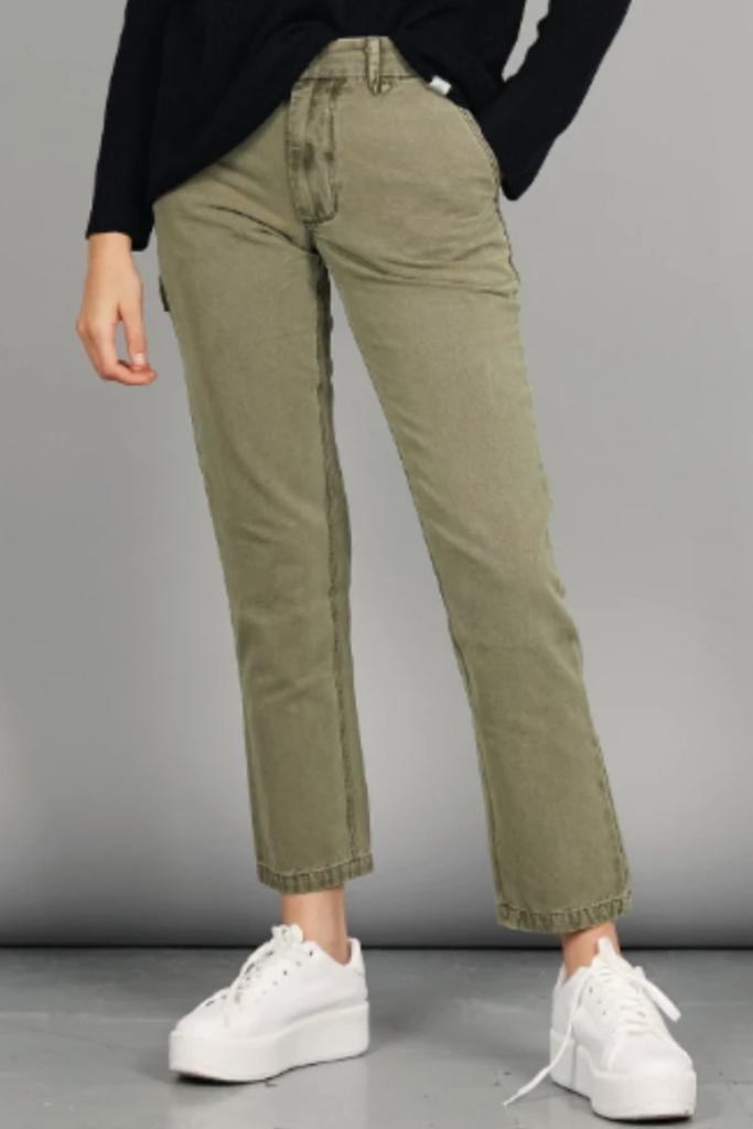 LOOSE TONE Organic Cotton Carpenter Trouser Khaki - Komodo Fashion