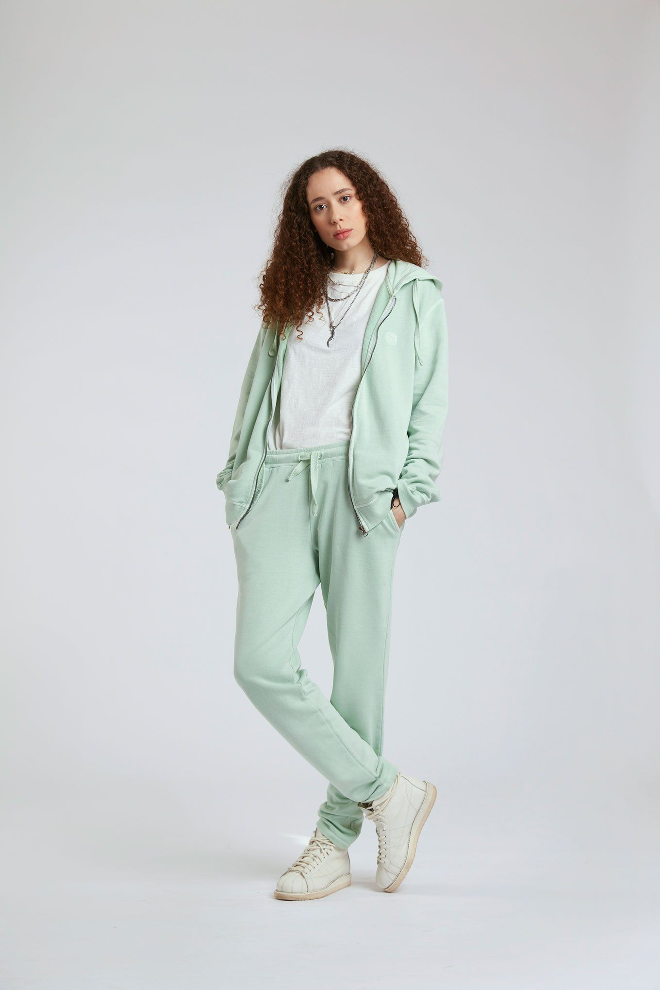 Trousers - OLYMPIA Womens - GOTS Organic Cotton Joggers Jade