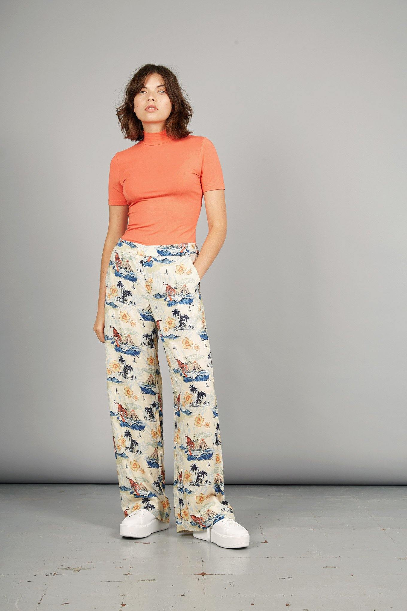 ROAR Rayon Trousers Bali Surf Print - Komodo Fashion