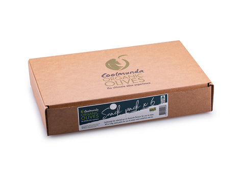 Coolmunda Organic Olives Snack Pack x 6 Gift Box