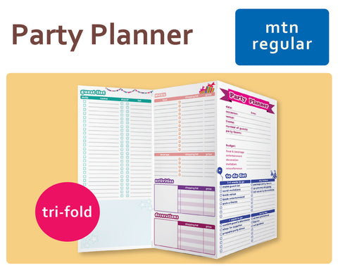 Party Planner Tri-Fold for Midori Traveler's Regular Size