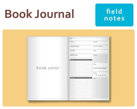 Book Journal for Midori Traveler's Field Notes Size