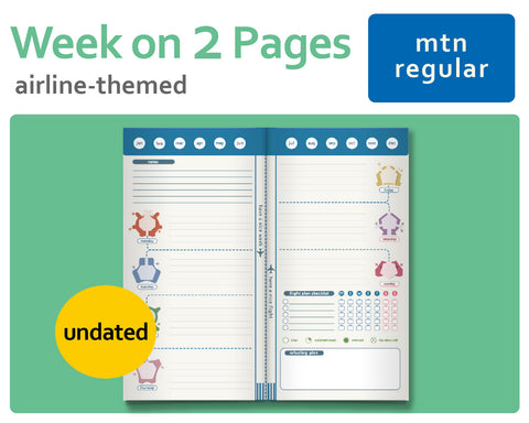 Flight-Themed Wo2P Week-On-2-Pages for Midori TN Regular Size