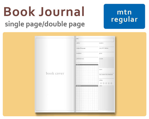 Book Journal for Midori Traveler's Regular Size