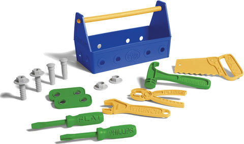 Toolbox Green Toy Blue and Green