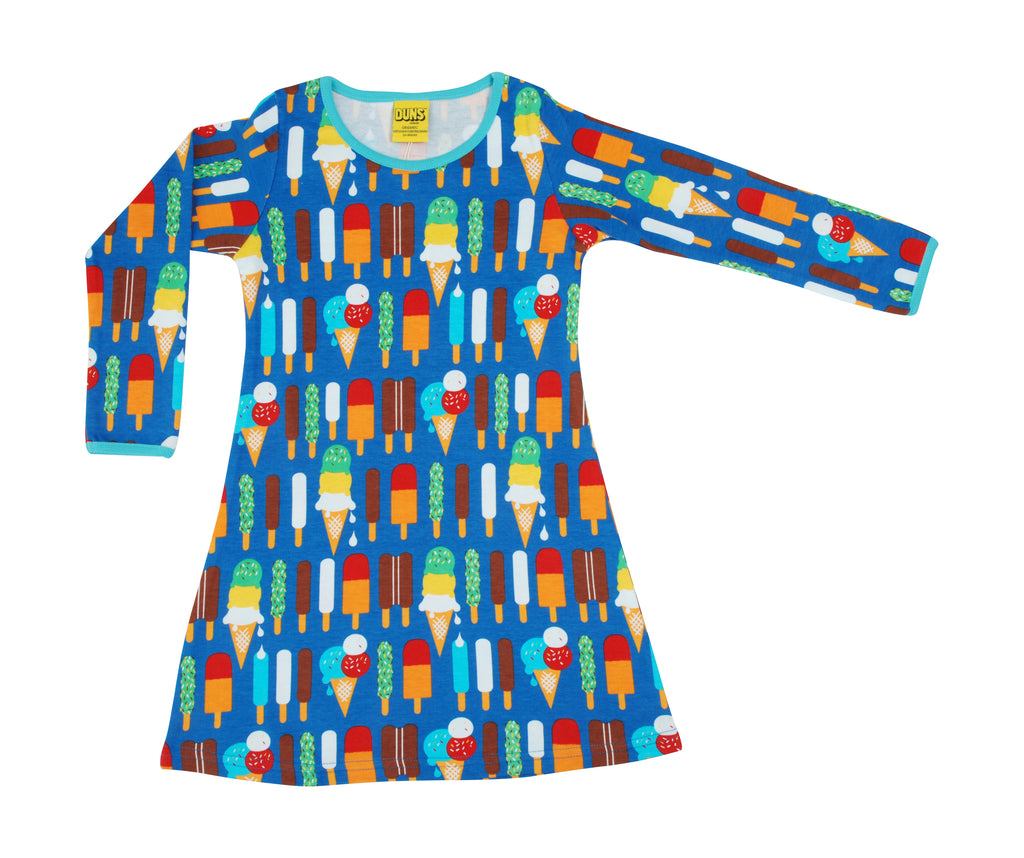 Duns Blue Icecream Aline Long Sleeved Dress