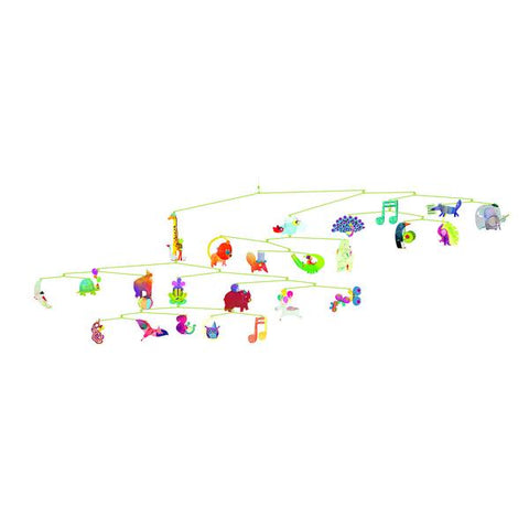 Djeco Flight of Fancy Birds Baby Mobile
