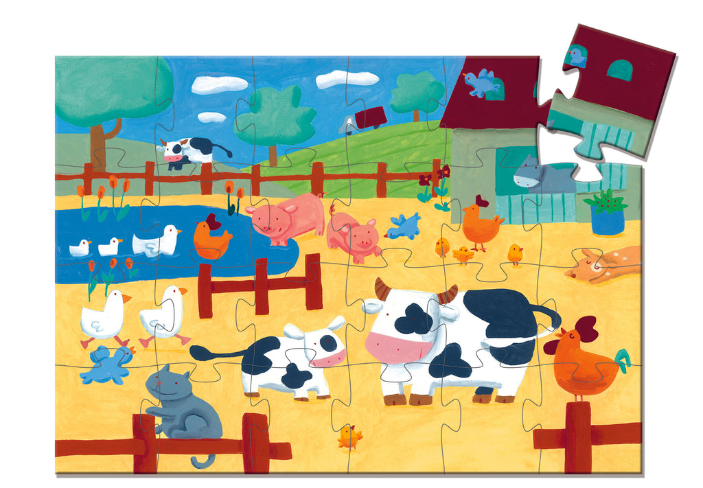 Djeco cows on the farm puzzle