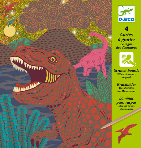 Djeco Scratch Cards - When Dinosaurs Reinged