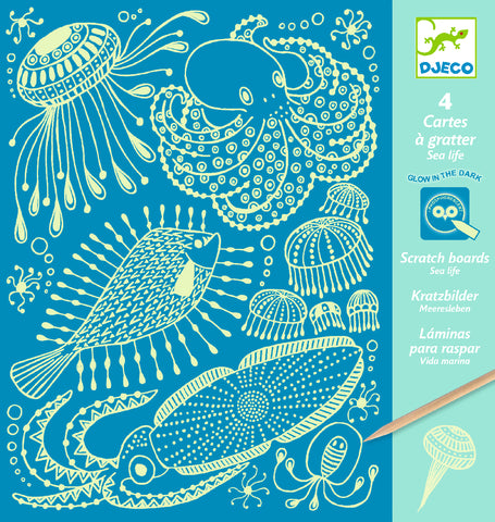 Djeco Scratch Cards - Sea Life