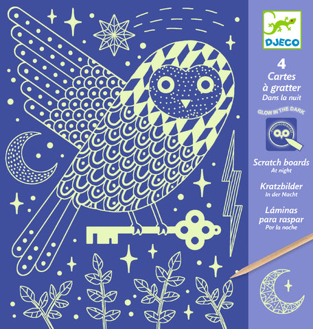 Djeco Scratch Cards - At Night