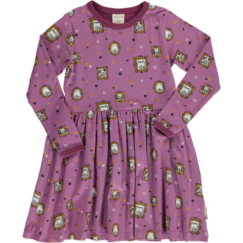 Family Album Long Sleeved Spin Dress