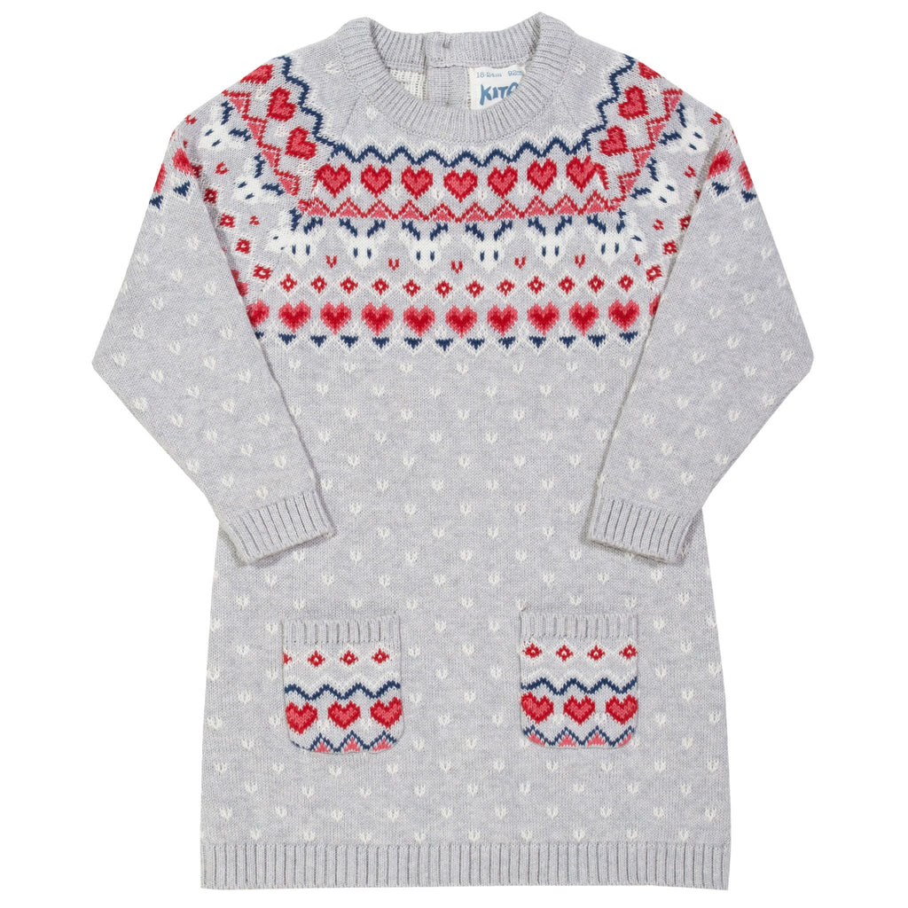 Kite Nordic heart knit dress