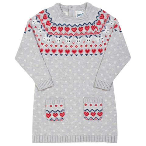 Last few Kite Nordic heart knit dress