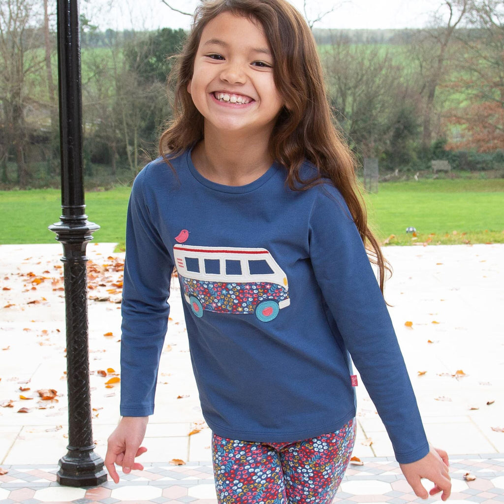 kite-organic-long sleeve-tshirt-campervan-applique