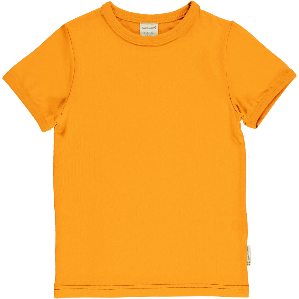 Maxomorra Classics Tangerine Basics  Short Sleeve Top