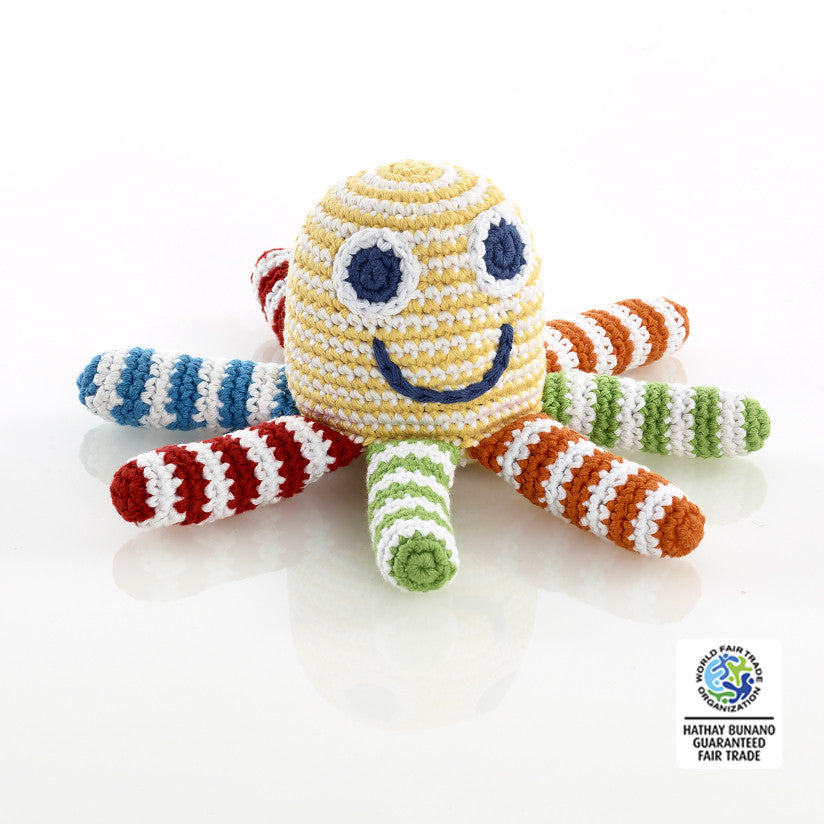 Octopus Rattle Multi Coloured