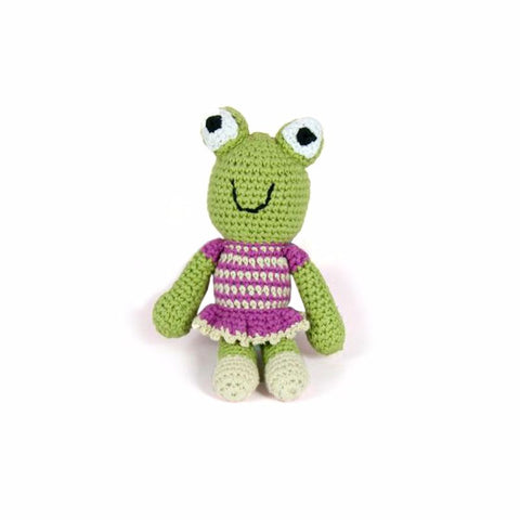 Crochet Frog Rattle Purple